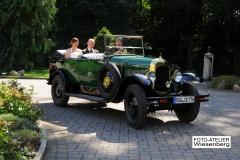 Alt-Bild: Hochzeitsfahrt im Cabriolet