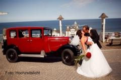 Alt-Bild: Hochzeit an der Seebrücke Sellin